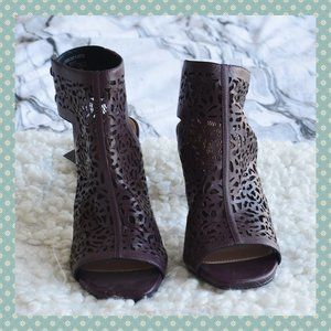 BNWT Zara Leather Cutout Boots